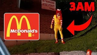 DONT GO TO MCDONALDS AT 3AM OR RONALD MCDONALD.EXE WILL APPEAR! | HAUNTED RONALD MCDONALD CAUGHT!