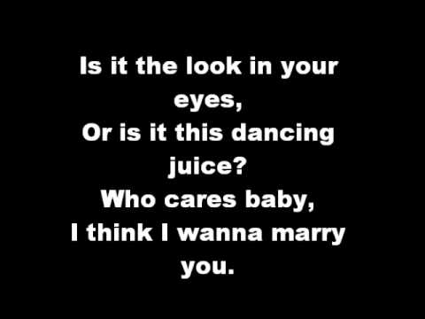 bruno marz marry you lyrics