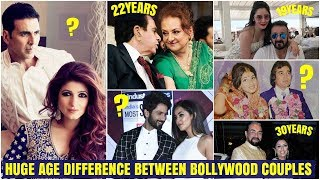 Huge Age Difference between Bollywood couples   Indian Couple AGE GAP.   Latest Updates 2019