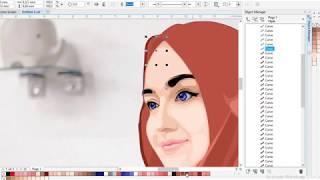 Tutorial Membuat Vector Wajah di Corel Draw