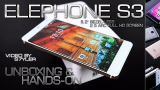 Elephone S3 White/Gold (Unboxing & Hands-on) Bezel-less & Unibody Design // by s7yler