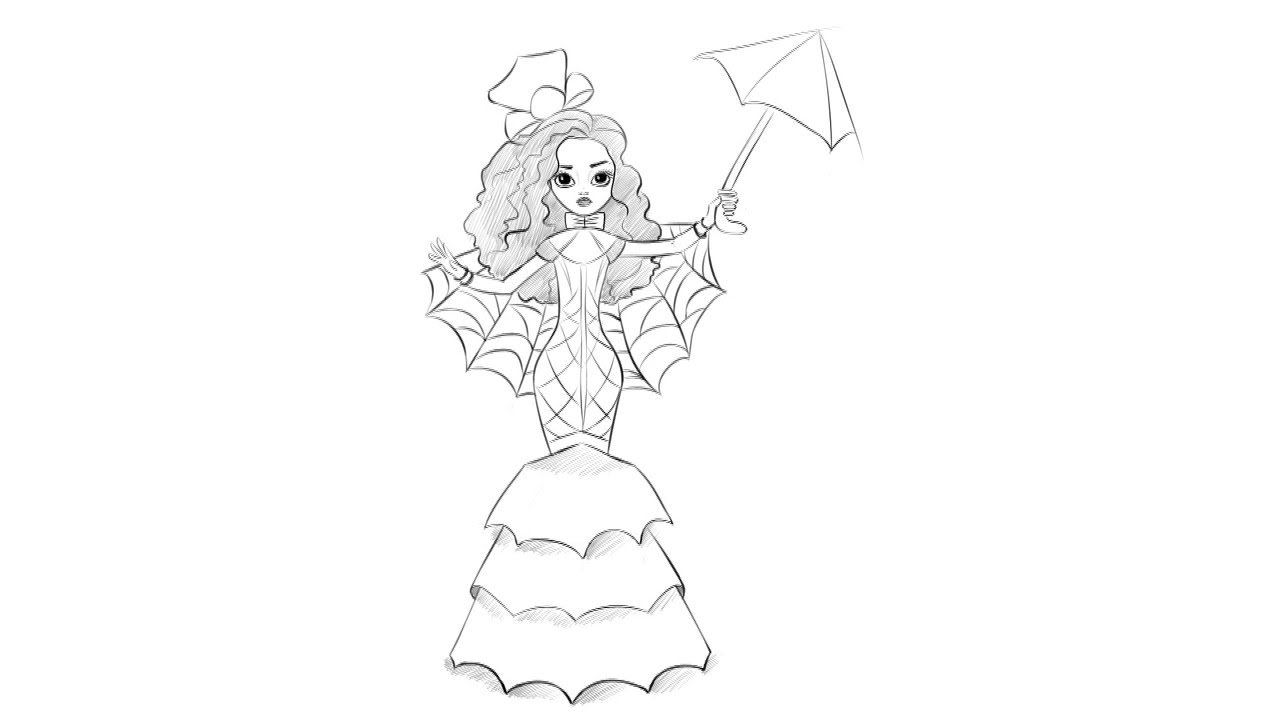 how to draw monster high spider youtube