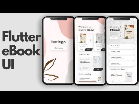 eBook Online Book Reading App - Flutter UI - Speed Code