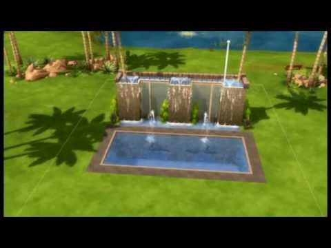 Sims 4 Pools Next To Fountains Youtube