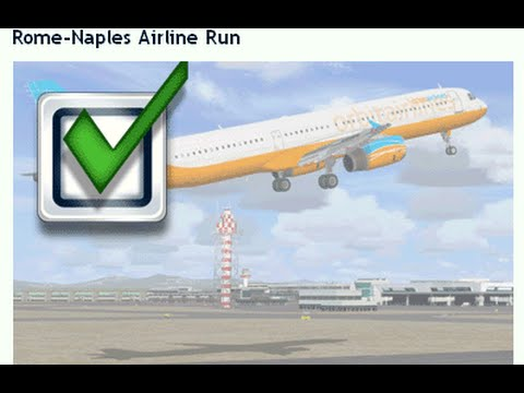 FSX: Rome to Naples (Mission) - PMDG 737-800NX - AirBerlin