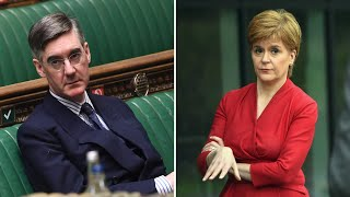 video: Politics latest news: Jacob Rees-Mogg brands Nicola Sturgeon 'Moanalot' after criticising PM's Scotland trip