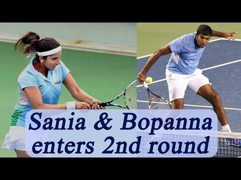 Sania Mirza and Rohan Bopanna enters second round of Australian Open 2017 | Oneindia News