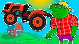 Едет Трактор - Мультики про машинки - Все серии подряд | Развивающие мультфильмы для детей.