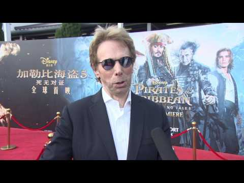 Pirates Of The Caribbean Dead Men Tell No Tales  Shanghai Premiere Jerry Bruckheimer