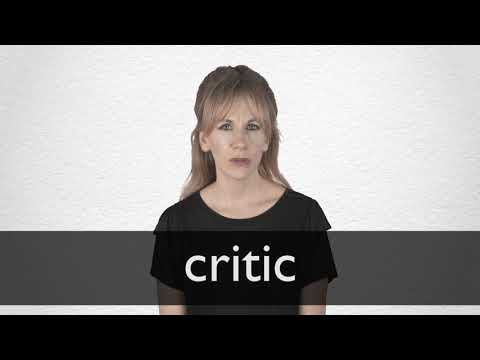 Critic Definition And Meaning Collins English Dictionary