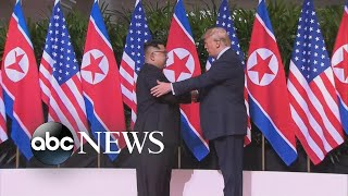 Kim Jong Un, Trump shake hands, make history