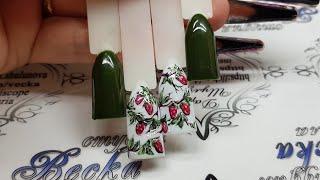 Летний дизайн ногтей. Ягоды малины. Еще один вариант малиновых ягод в дизайне ногтей