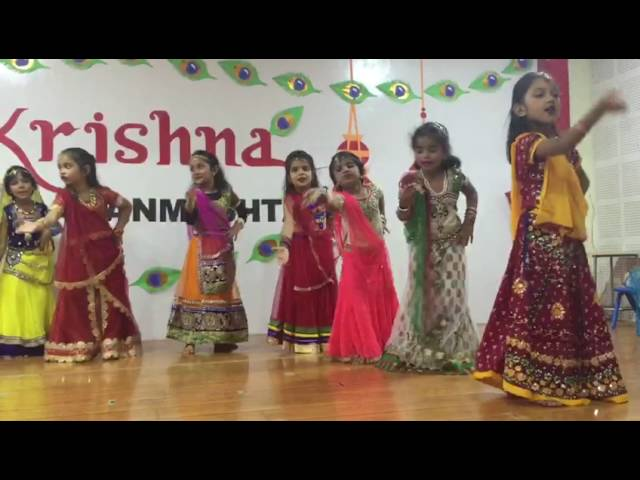 KG 2C children dance gracefully to celebrate Krishna Janmashtami