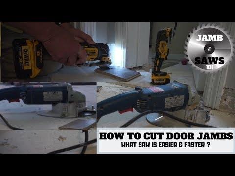 DIY - HOW TO CUT DOOR JAMBS - WOOD - LAMINATE - VINYL FLOOR INSTALLATION - JAMB SAW OR OSCILLATING