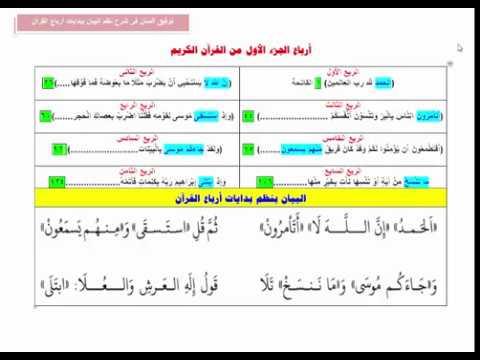 الدرس الثانى أرباع الجزء الأول من القرآن الكريم من كتاب توفيق المنان للشيخ هشام جمال Youtube