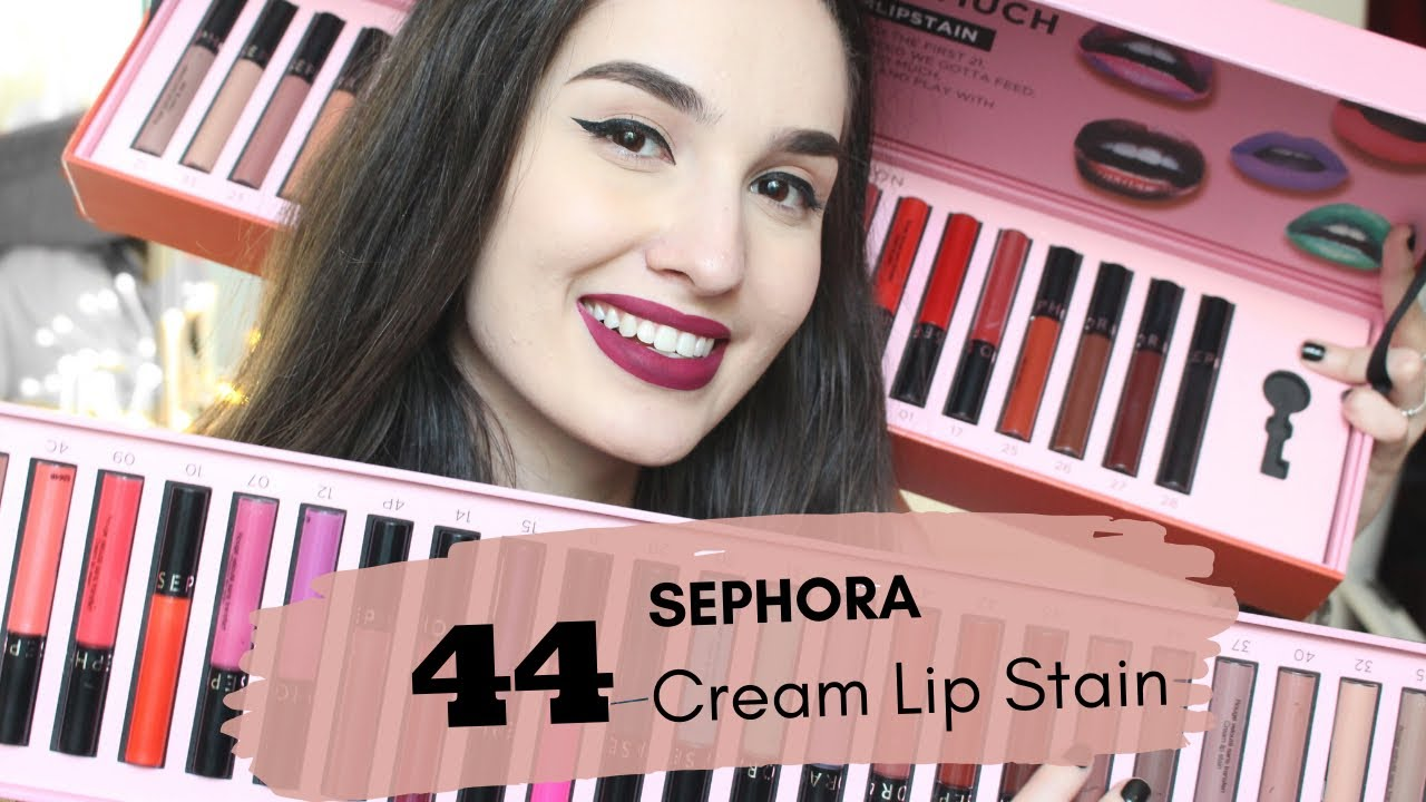 Swatches Sephora Lip Stain 44 Nuanţe Ilinca Munteanu Youtube