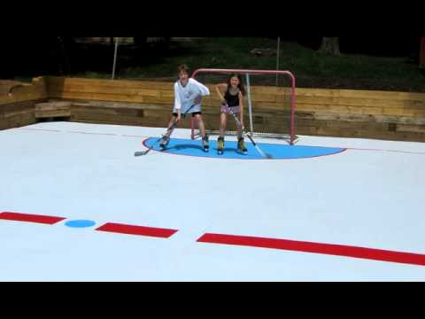 Nice Super Glide Synthetic Ice Backyard Hockey Rink