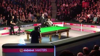 crowd erupts every shot ronnie o sullivan takes as he beats mark selby snooker masters 2016