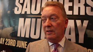 FRANK WARREN ON SAUNDERS-MURRAY, CANELO, VALDEZ UNLIKELY FOR FRAMPTON, KHAN, ALLEN WANTS DOUBLE