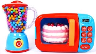 microwave play doh cake squishy toys for children learn colors for kids