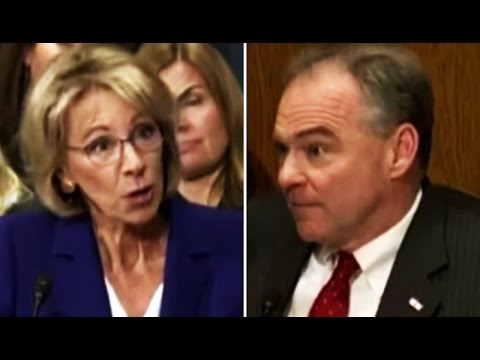 Tim Kaine Gets Aggressive With Betsy DeVos Over Questions About Disabilities Protections