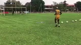 بانسيه لاعب المصري الهارب يتدرب مع أسيك الإيفواري