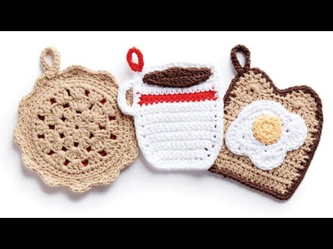 How to Crochet A🍞 Pot Holder: Toast & Egg