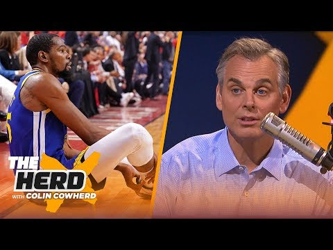 Colin Cowherd reacts to Kevin Durant's injury, discusses what's next for his career | NBA | THE HERD