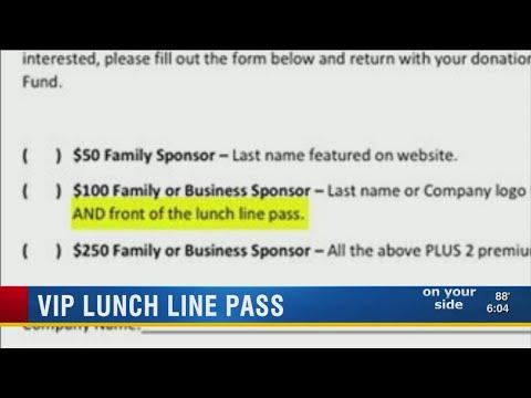 Parents upset over Lakeland school VIP lunch-line pass