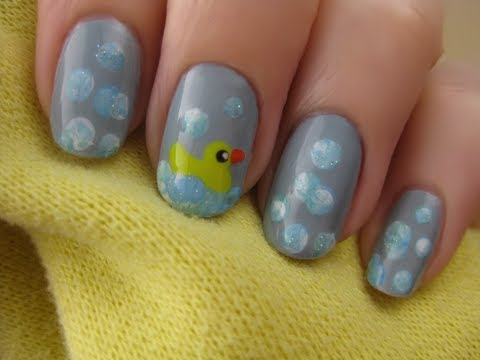 Baby Shower Nail Art - Baby Shower Nail Art - YouTube