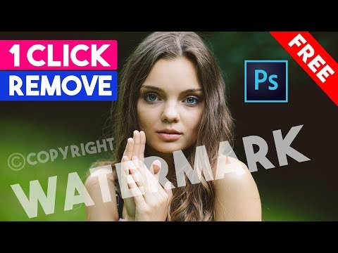 How To Quick Watermark Remove From Photo Just 1 Click Photoshop Actions 2020
