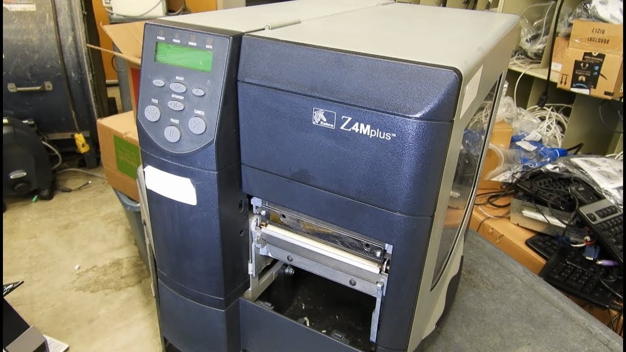 How to replace a platen roller on a Zebra Z4Mplus label printer