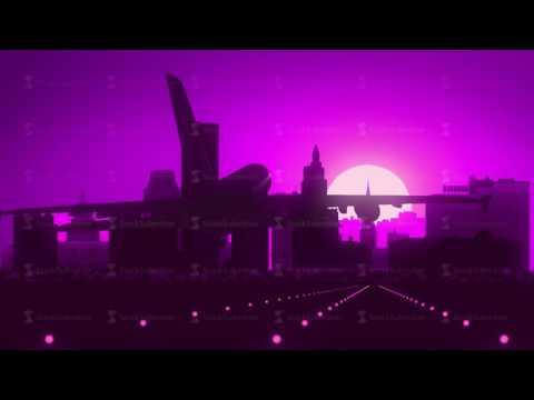 Providence Violet Purple USA America Skyline Sunrise Landing