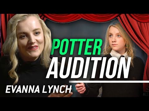 MY LUNA LOVEGOOD AUDITION FOR HARRY POTTER - Evanna Lynch