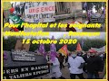 MANIFESTATION SOIGNANTS,Intersyndicale Citoyenne, Besançon,15 octobre 2020, couvre feu