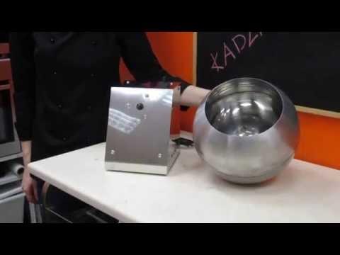 Chocolate coating machine / Дражировочный барабан