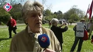 Samenkomst bij monument Troelstra in Den Haag
