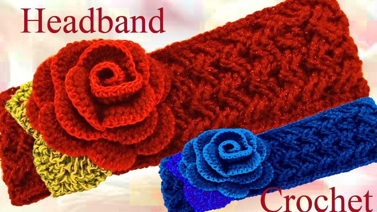 Como Tejer A Crochet Una Diadema O Bandana En Punto
