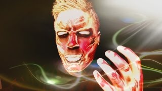 Human torch/ fantastic four: diy face paint/makeup tutorial/halloween.