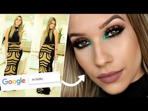 O GOOGLE ESCOLHEU MINHA MAQUIAGEM 😱    Google Picks My Makeup Challenge