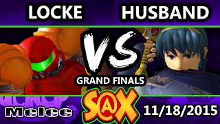 S@X 124 - Husband (Marth) Vs. Locke (Samus) SSBM Grand Finals - Smash Melee