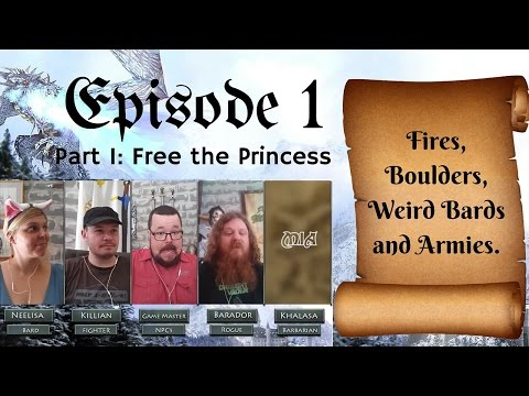 BACONRPG: Episode 1 Part 1 - Free the Princess - Pathfinder Roleplaying Session