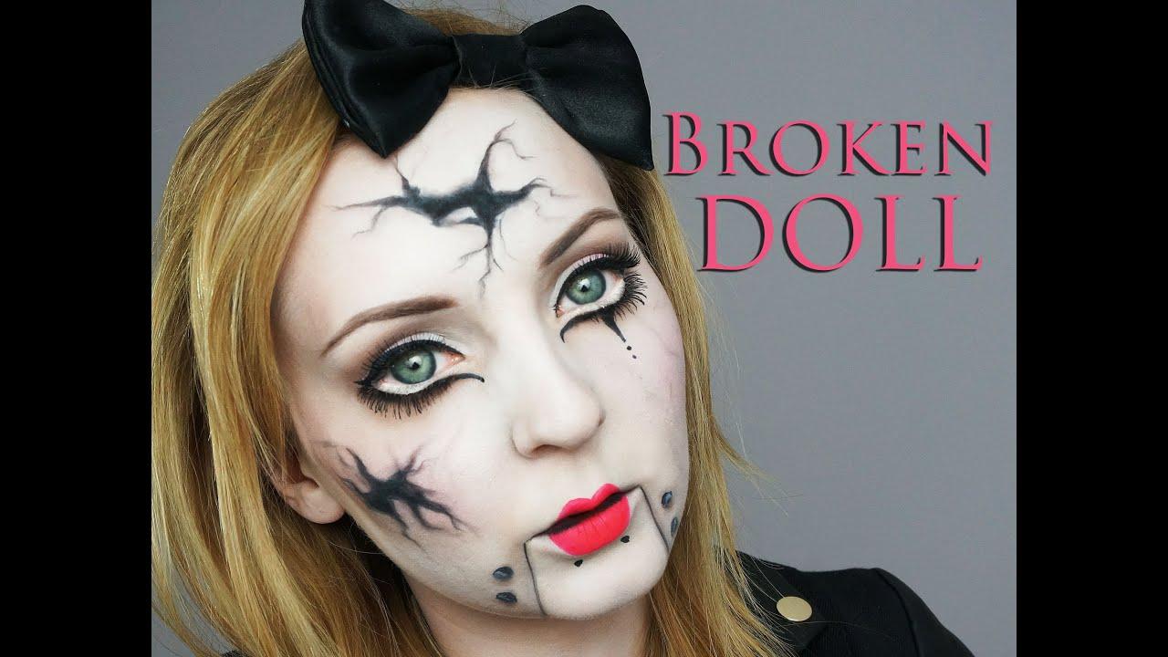 BROKEN DOLL Make Up Transformation - YouTube  BROKEN DOLL Mak...