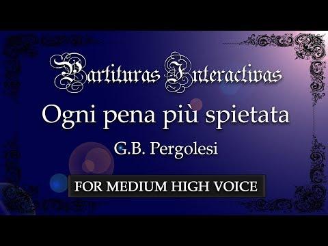 Ogni pena più spietata - G. B. Pergolesi (Karaoke - Key: A minor)