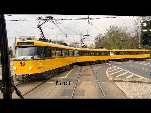 Tatra trams in Dresden / Germany / Part: 1 / Tatra Straßenbahnen in Dresden / Teil: 1