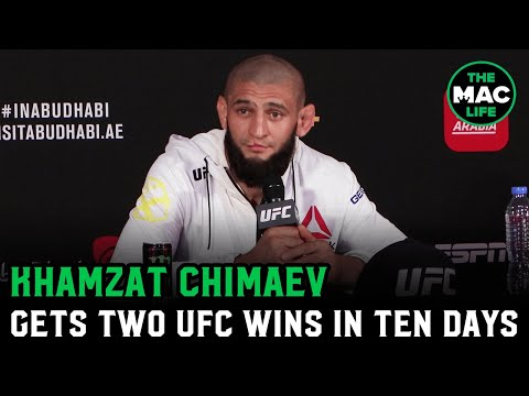 """Khamzat Chimaev On Two UFC Wins In Ten Days: """"Smash Somebody, Get Money. It's Easy For Me."""""""