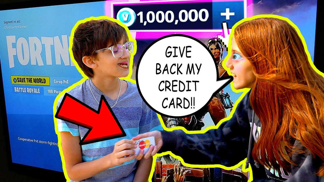 Brother STEALS SISTERS Credit Card To Buy V-Bucks! (Fortnite) To Catch A Thief