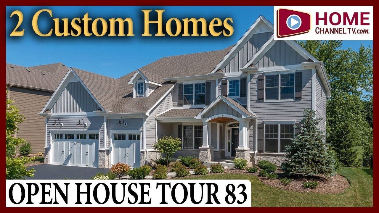 Open House Tour 83 - Touring 2 Custom Homes at Amberwood Estates in Wheaton