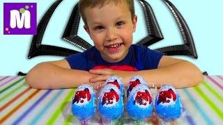 Человек-паук яйца сюрприз игрушки распаковка Spider-Man surprise eggs unboxing toys