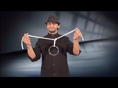 تعلم العاب الخفة # 329 ..... ring and rope magic trick revealed